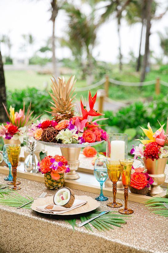 déco mariage tropical