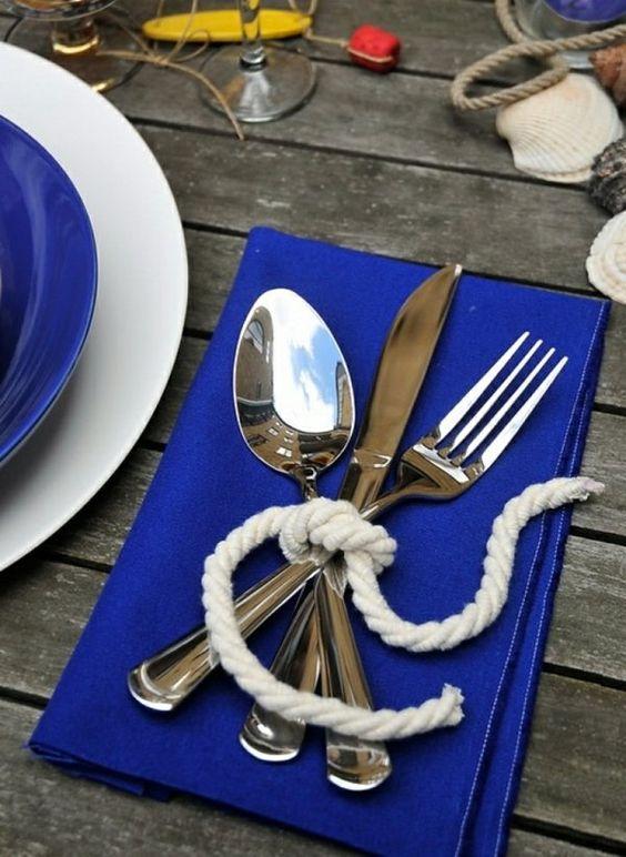 couverts mariage mer/océan
