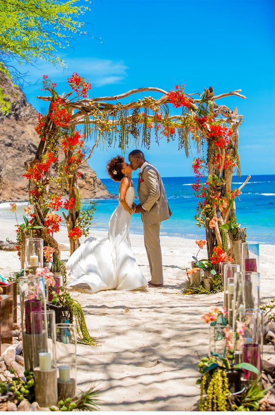 arche mariage tropical