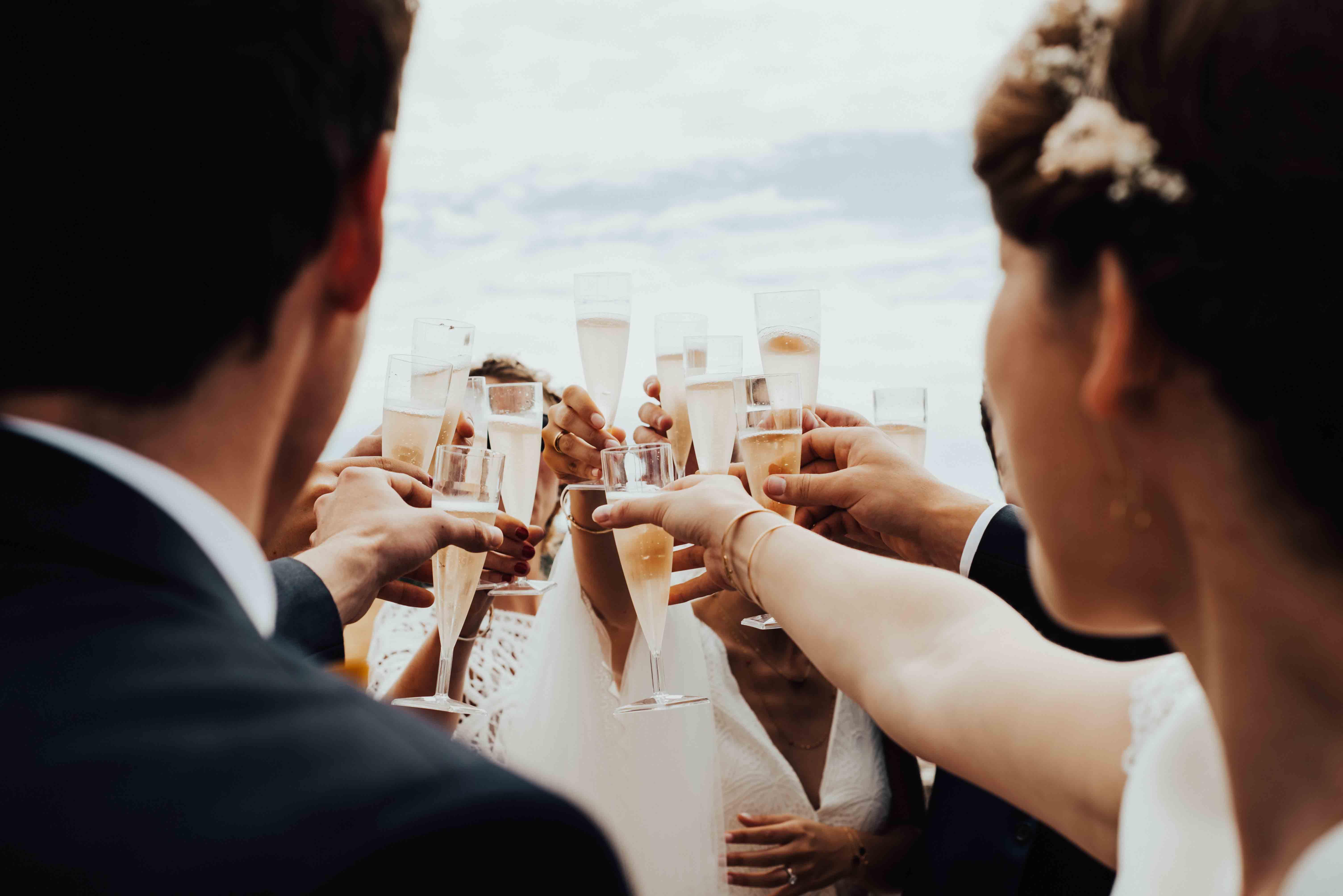 champagne mariage ile de re