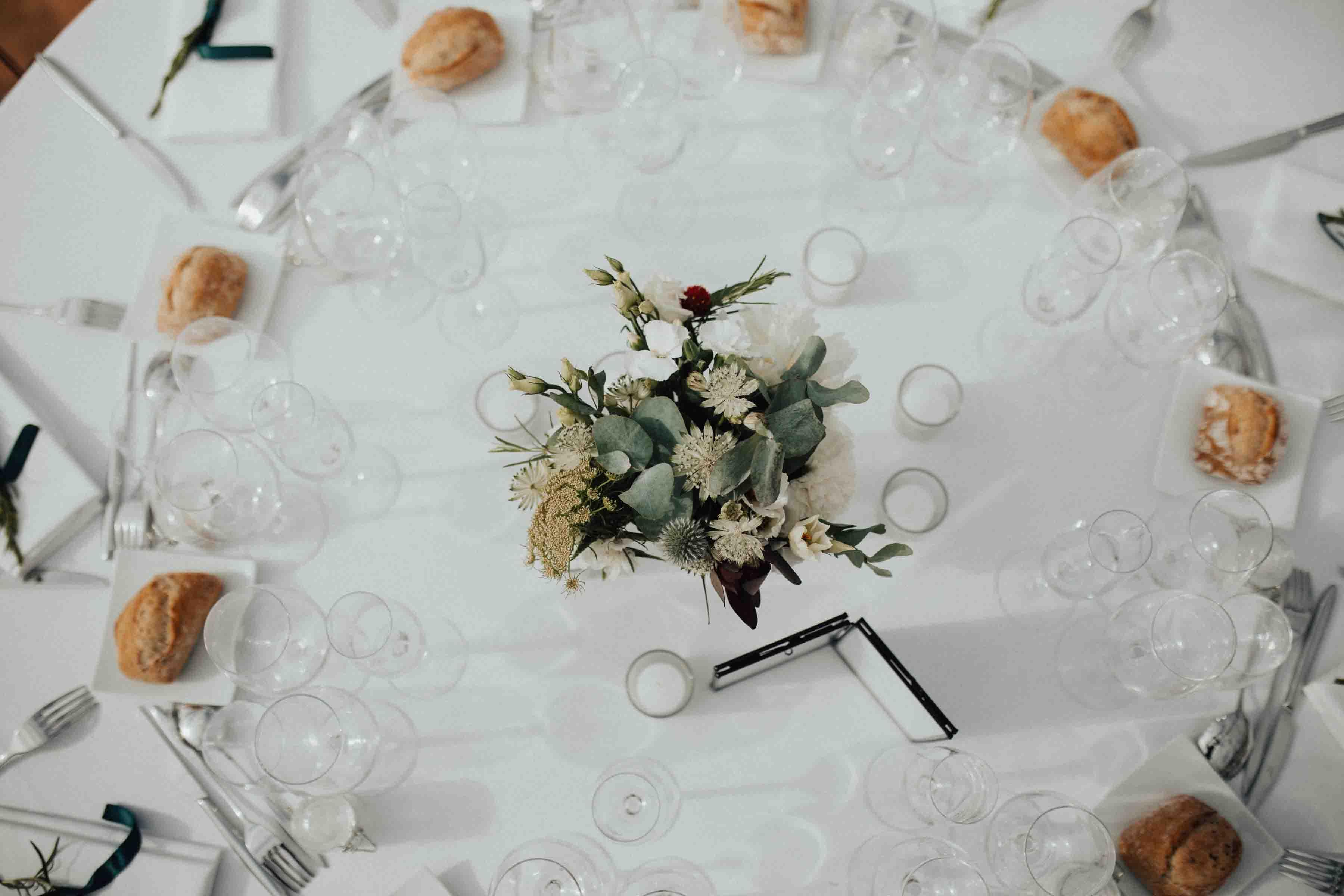 deocration table mariage fort de la pree