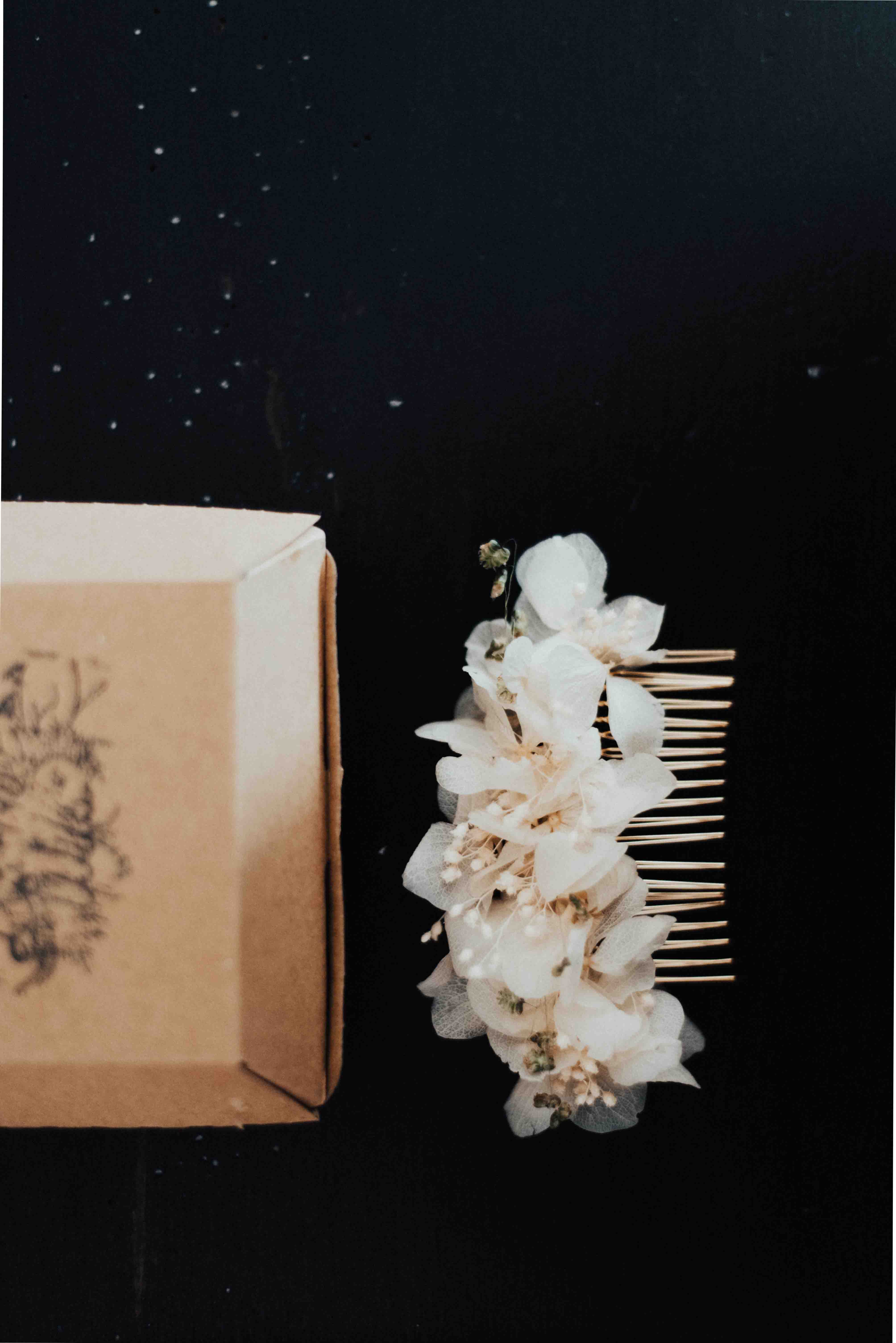 peigne fleurs stabilisées maiage ile de re studio pollen